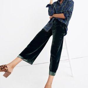 Madewell Green Velvet Pants